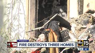 Several families displaced after fire burns at Valley apartment - Video