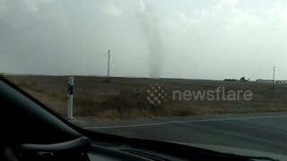 Rare dust devil spotted in the south of Spain
