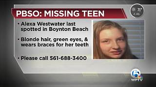 PBSO looking for missing 15-year-old Boynton Beach girl - Video