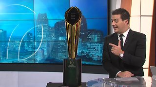 College Football Playoff's National Championship trophy visits WXYZ Detroit Channel 7