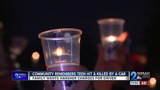 Community remembers teen hit, killed by car