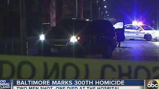 Baltimore marks 300th homicide in NW Baltimore - Video