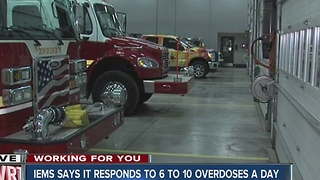 Indianapolis EMS workers are administering doses of Naxolone in record-breaking numbers - Video
