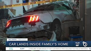 Car crashes into family's Mt. Hope home