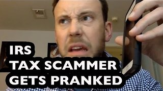 Man Trolls IRS Scammer - Video