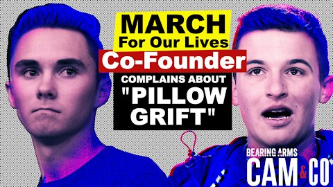 "March For Our Lives Co-Founder Complains About David Hogg's ""Pillow Grift"""