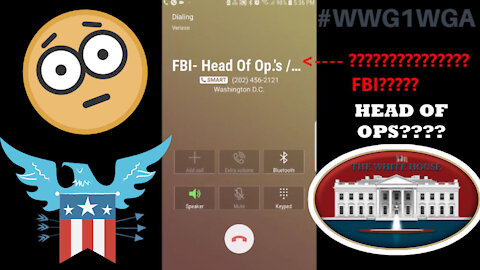 4.2.21: PROOF [WH] PHONE Goes to FBI & **IS DISCONNECTED** (MEGA PSYOP)