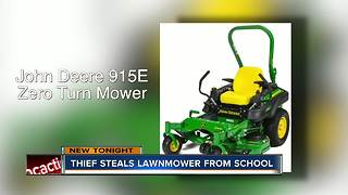 $9000 lawn mower stolen from Hillsborough County school - Video