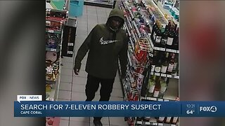 Search for 7 - Eleven robbery suspect continues