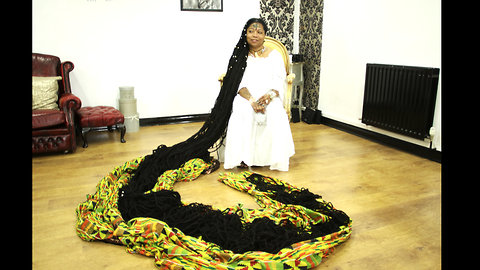 World's Longest Dreadlocks Reach 110 FEET | HOOKED ON THE LOOK