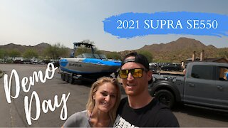 Demo Day on a 2021 Supra SE 550 Wakeboat