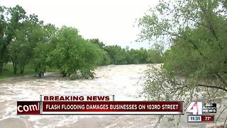 Businesses near Indian Creek affected, totaled by floodwaters - Video