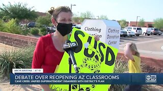 Debate continues over reopening Arizona classrooms