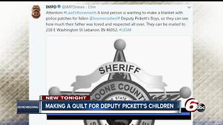 Group collecting patches to make quilt for Deputy Pickett's children