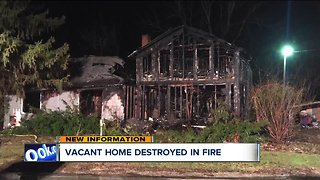 Vacant home destroyed by fire in Chatham Township