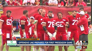 Chiefs offensive line prepares for first preseason game
