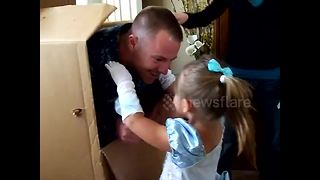 US Navy Dad 'Delivers' Himself Home To Surprise A Special Someone - Video