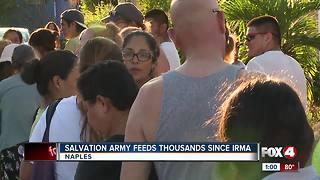 Salvation Army Feed Thousands Since Hurricane Irma