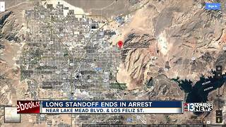 Standoff in desert ends with suspect in custody - Video