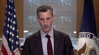 Spokesperson Ned Price leads the Department Press Briefing, at the Department of State
