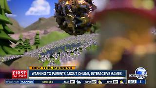 Parental warning about online games - Video