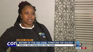 Mother of 5, gets home, furniture in time for Thanksgiving holiday