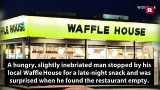 Waffle House customer cooks his own meal after finding staff sleeping | Rare News - Video