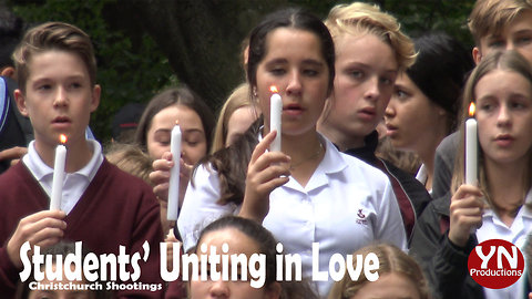 Christchurch Students' Uniting in Love Memorial after Mosque Shooting