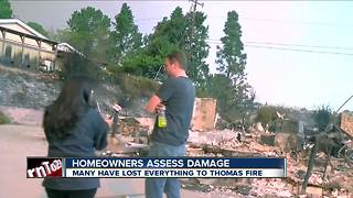 Ventura family loses everything to Thomas Fire - Video