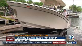 Boaters trying to find safe ground before Irma - Video