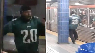 Even MORE Footage of Crazy Eagles Fan Who Ran into a Pole - Video