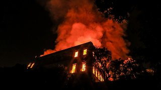 A Massive Fire Destroys Brazil's 200-Year-Old National Museum