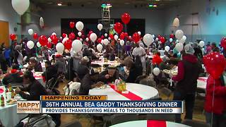 From feeding dozens to thousands, Bea Gaddy Thanksgiving tradition continues - Video