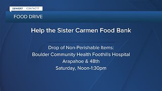 Food drive to help Sister Carmen Community Center