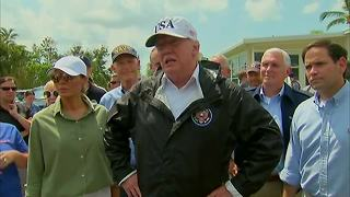 Pres. Trump meets with Hurricane Irma victims in Naples - Video