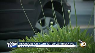 Neighbors on alert after car thefts in Scripps Ranch - Video
