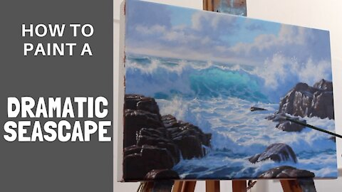 How to Paint a DRAMATIC SEASCAPE in 5 Easy Steps