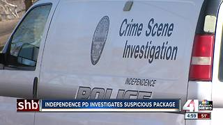 Independence police investigate suspicious package - Video