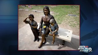 American Gold Star Mother Presented with Commemorative Statue