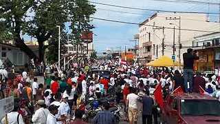 Opposition Protesters March in La Ceiba Over Contested Election - Video