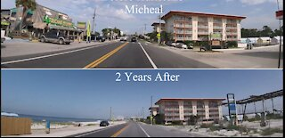 Before and after hurricane Michael