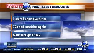 Tuesday forecast: Warm days continue - Video
