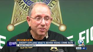 Sheriff William Snyder talks about rising crime rate in Martin County - Video