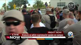 Protests greet white nationalist Richard Spencer in Gainesville - Video