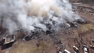Drone Footage Reveals Overhead View of Tultepec Fireworks Explosion - Video