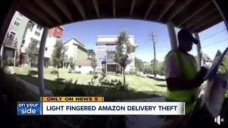 CAUGHT ON CAMERA: Amazon delivery driver caught stealing package - Video