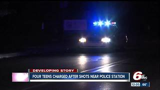 Shots fired near IMPD North District, teens arrested - Video
