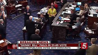 Obamacare 'Skinny Repeal' Rejected After Pence Tried To Lobby Mccain - Video