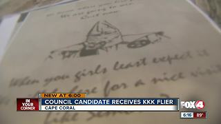 Cape Coral Council Candidate Receives KKK Flyer - Video