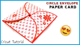 Paper craft tutorial: DIY circle envelope card